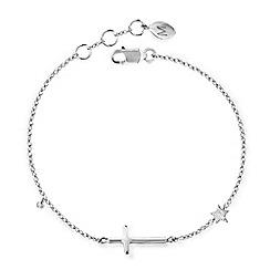 Missoma - Sterling silver cross bracelet with diamond pave charm