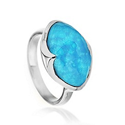 Missoma - Sterling silver bisous ring with turquoise