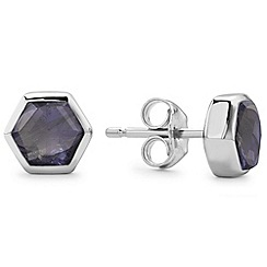 Missoma - Sterling silver bolt stud earring with iolite