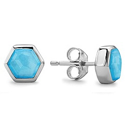 Missoma - Sterling silver bolt stud earring with turquoise