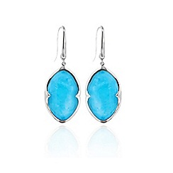 Missoma - Sterling silver bisous earrings with turquoise