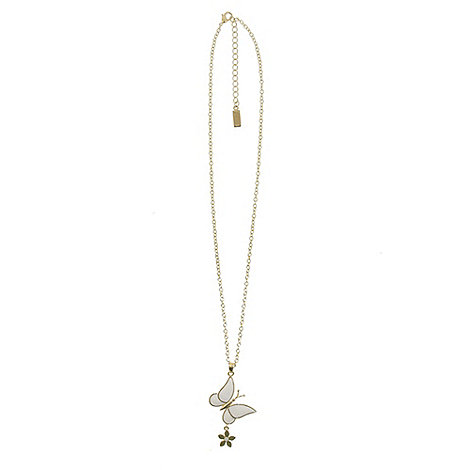Finesse - Gold butterfly pendant necklace
