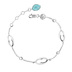 Missoma - Sterling silver bisous bracelet with turquoise drop