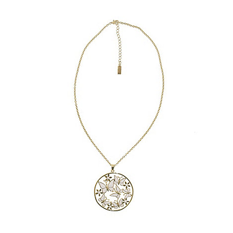 Finesse - Gold butterfly ring pendant necklace
