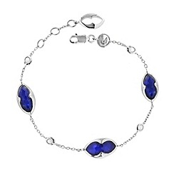 Missoma - Sterling silver bisous bracelet with lapis doublet