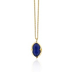 Missoma - 18ct gold vermeil bisous necklace with lapis doublet pendant