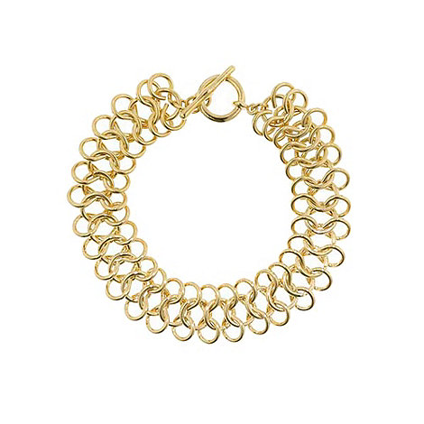 Finesse - Gold chunky chain bracelet