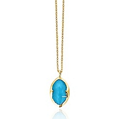 Missoma - 18ct gold vermeil bisous necklace with turquoise doublet pendant