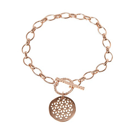 Finesse - Gold round cut out bracelet