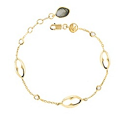 Missoma - 18ct gold vermeil bisous bracelet with lapis drop