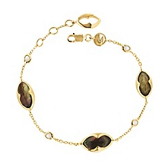 Missoma - 18ct gold vermeil bisous bracelet with grey mother of pearl doublet