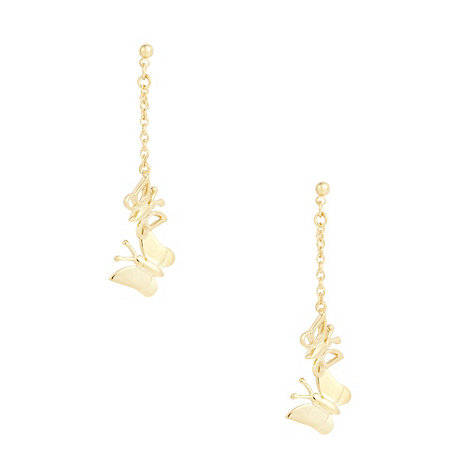 Finesse - Gold butterfly drop earrings