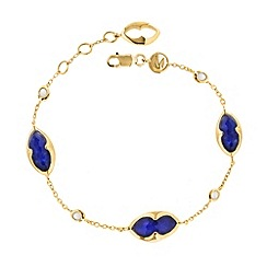 Missoma - 18ct gold vermeil bisous bracelet with lapis doublet