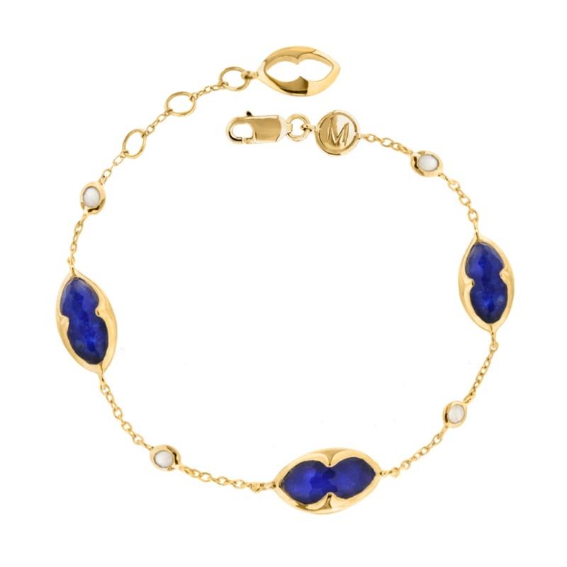 Missoma 18ct Gold Vermeil Bisous Bracelet With Lapis
