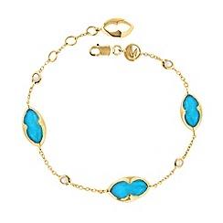 Missoma - 18ct gold vermeil bisous bracelet with turquoise doublet