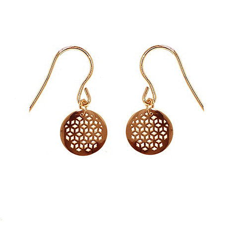 Finesse - Gold honeycomb hook earrings