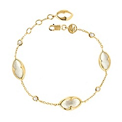 Missoma - 18ct gold vermeil bisous bracelet with white mother of pearl doublet