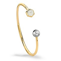Missoma - 18ct gold vermeil bracelet with a rainbow moonstone