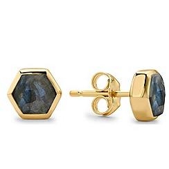Missoma - Gold bolt stud earring with labradorite