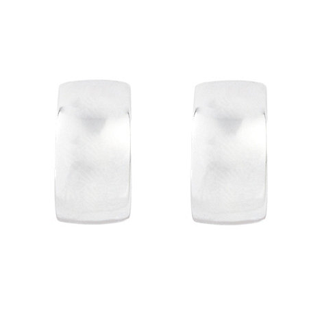 Finesse - Silver half hoop clip on earrings