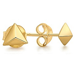 Missoma - 18ct gold vermeil triangle studs