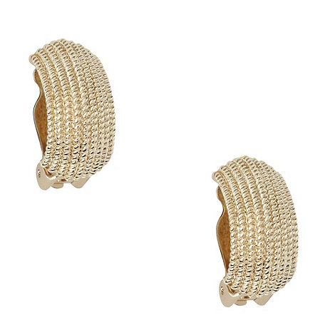 Finesse - Gold textured semicircular hoop earrings