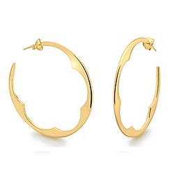 Missoma - 18ct gold vermeil bisous hoop earrings