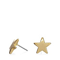Pilgrim - Gold plated star stud earrings