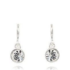 Pilgrim - Silver plated crystal earrings