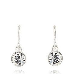 Pilgrim - Silver plated crystal earrings