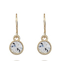Pilgrim - Gold plated crystal earrings