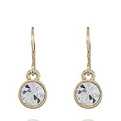 Pilgrim - Gold plated crystal earrings