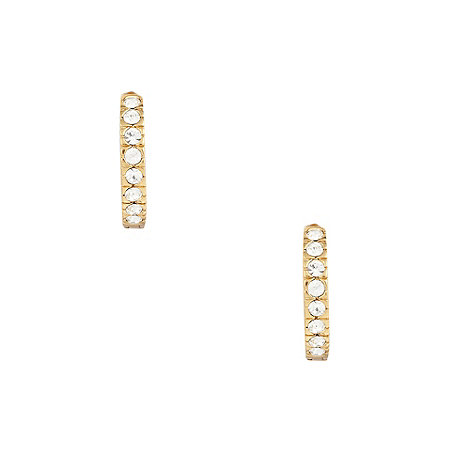 Finesse - Gold small swarovski crystal hoop earrings