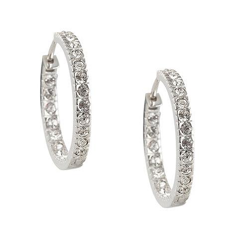 Finesse - Silver swarovski crystal earrings