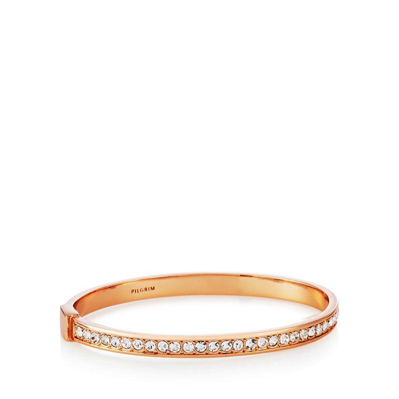 Pilgrim Rose gold stone bracelet