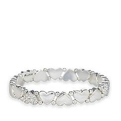 Pilgrim - Hematite plated stone heart bracelet