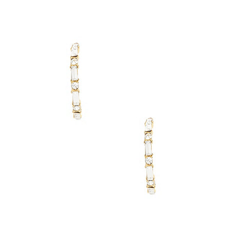 Finesse - Gold swarovski crystal hoop earrings