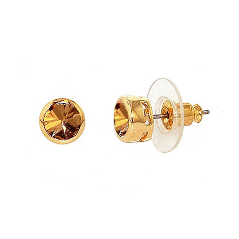 Finesse - Gold quartz stud earrings