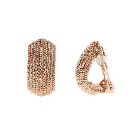 Finesse - Light pink textured curve earrings