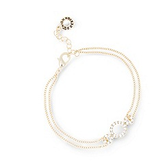 Pilgrim - Gold plated crystal bracelet