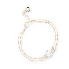 Pilgrim - Gold plated crystal bracelet