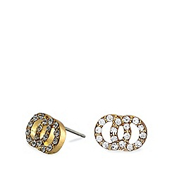 Pilgrim - Gold plated crystal stud earrings