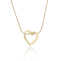 Pilgrim - Gold plated heart necklace