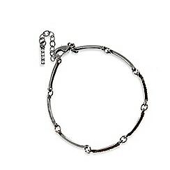 Pilgrim - Hematite plated crystal bracelet