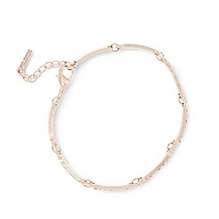 Pilgrim - Rose gold plated crystal bracelet