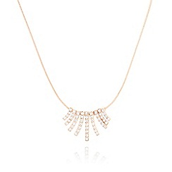 Pilgrim - Rose gold plated crystal necklace
