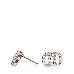 Pilgrim - Rose gold plated crystal stud earrings