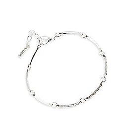 Pilgrim - Silver plated crystal bracelet