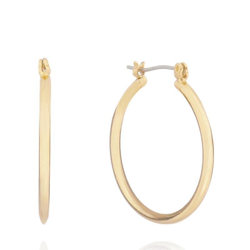 Pilgrim Gold Plated Hoop Earrings, Womens
