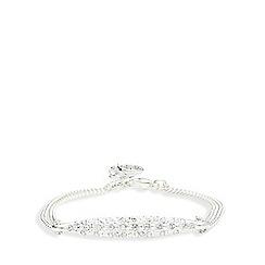 Pilgrim - Silver crystal plated bracelet